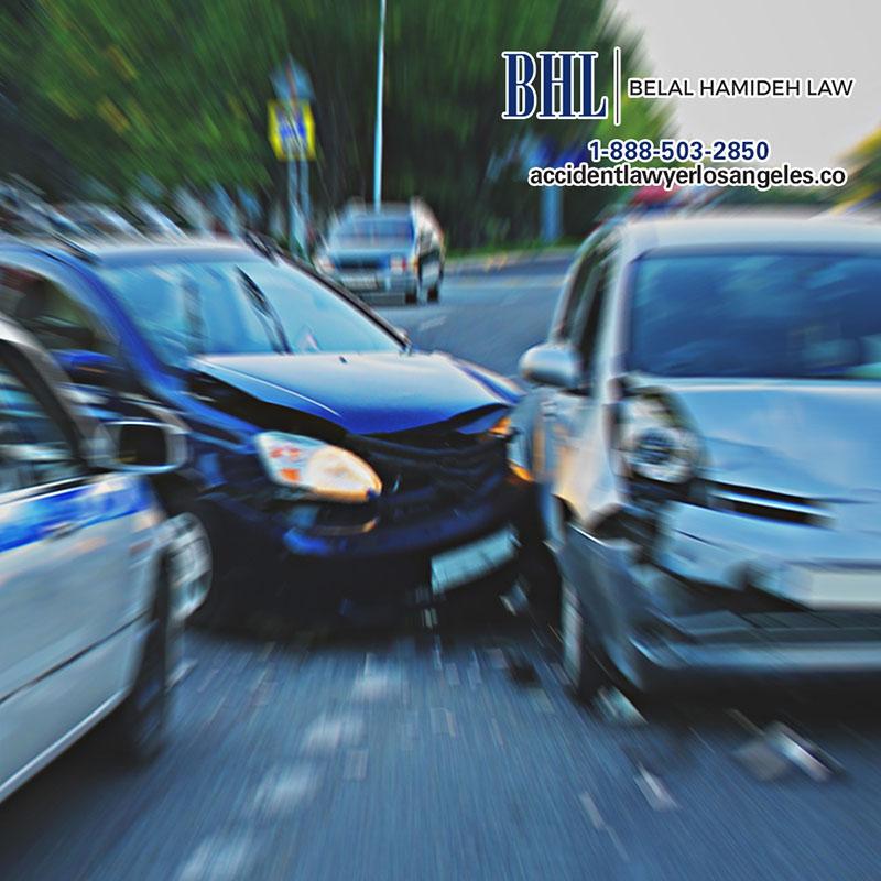 Salió lastimado en un accidente de autos en Los Angeles?