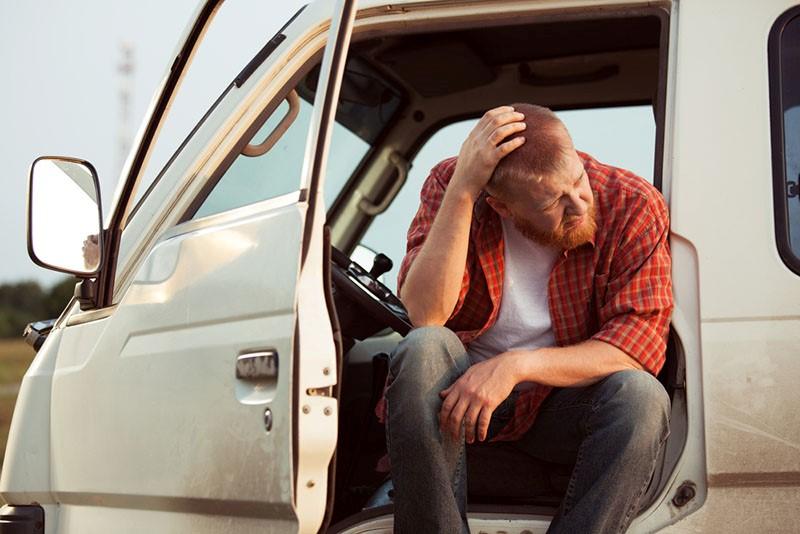 Recolecte evidencia después de un accidente de camión